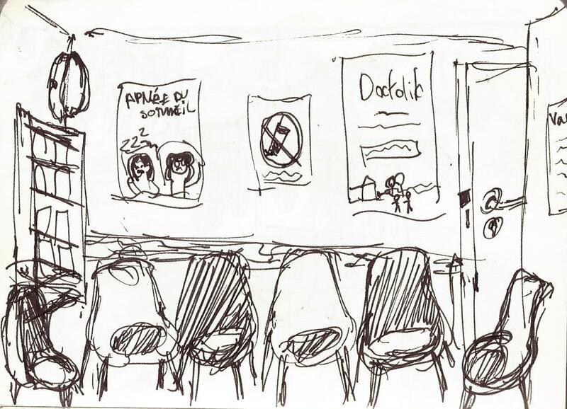 Intérieur d'une salle d'attente chez le médecin
