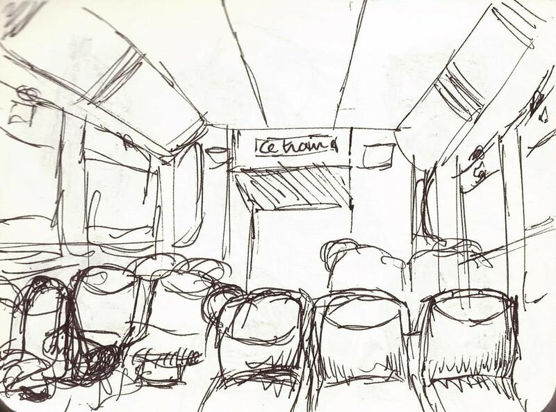 Intérieur d'un wagon de RER